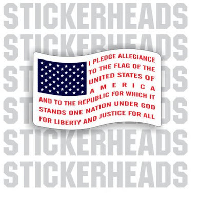 Pledge Of Allegiance - FLAG USA Sticker
