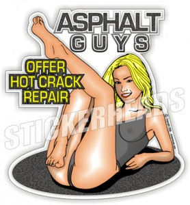 Asphalt Guys - Hot Crack Repair - Asphalt Pavement Road Construction  - Sticker