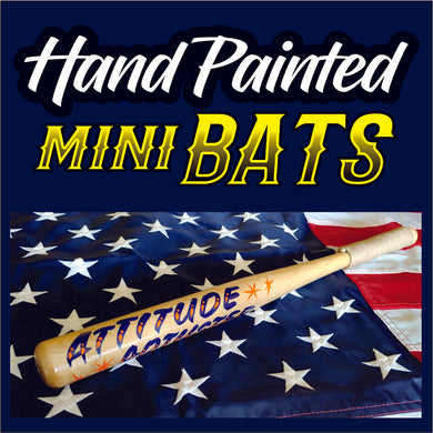 Attitude Adjuster  ( with para-cord handle ) Hand Painted - Mini Bat