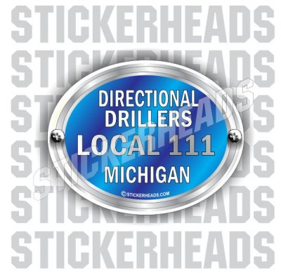 Blue Oval Badge - Custom Text -  Directional Driller Drilling Boring Sticker