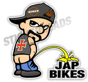 Biker Piss Pee On Jap Bikes - Bike Biker Motorcycle Sticker
