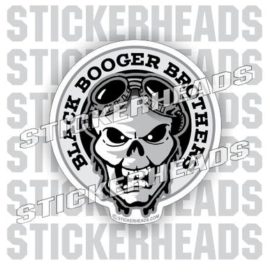 Black Booger Brothers Skull - WELDERs weld sticker