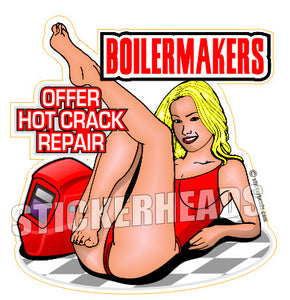 Hot Crack Repair Sexy - Boiler maker  boilermakers  boilermaker  Sticker