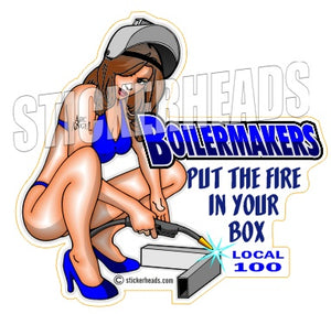 Put the FIRE in your BOX   - sexy -  Boiler maker  boilermakers  boilermaker  Sticker