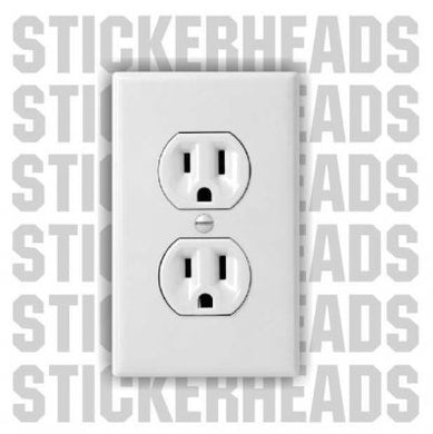 Fake Electrical Outlet Pack Of 2 -  IBEW  Electrical Electric Sticker