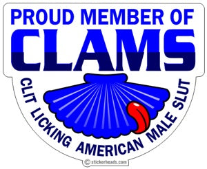 Proud Member of CLAMS - Funny Sticker