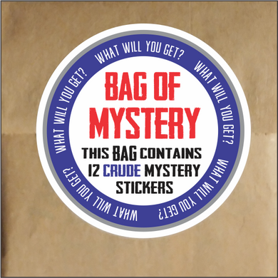 Bag Of Mystery Stickers - Funny Sticker Pack of 12 CRUDE Stickers