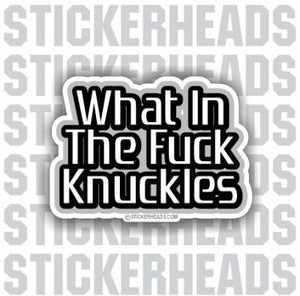 What In The Fuck Knuckles - Funny Sticker
