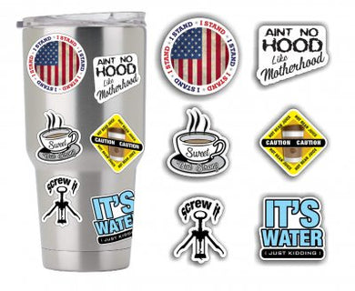 Sticker Pack #2 - Coffee Tumbler Drink Drunk Sticker