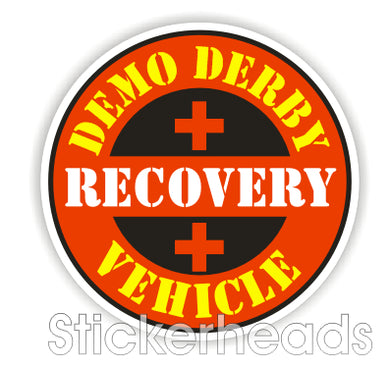 Demo Recovery Vehicle - Demo Demolition Derby Sticker