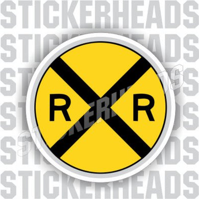 Crossing sign round - Railroad Sticker