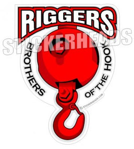 Brothers of the Hook - ball and hook - Rigger Riggers Sticker