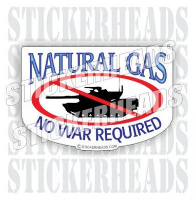 No War Required ( Tank )- cartoon - Natural Gas Well Frac Frac'er Fracing - Sexy Chick - Sticker