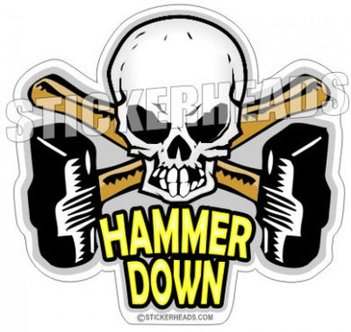 Hammer Down - Skull - Boiler maker  boilermakers  boilermaker  Sticker