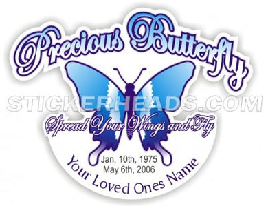 Precious Butterfly - Custom text -  In Memory Of Sticker