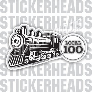 Steam Engine with Your Local - Railroad Sticker