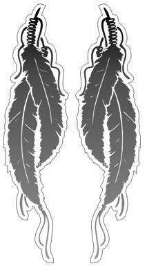 Feathers  ( 2 Stickers Left and Right )    - Native Indian American Sticker