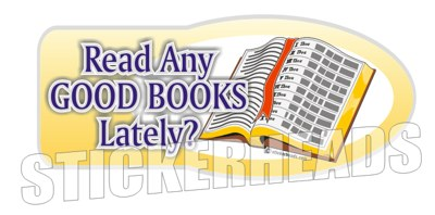 Read Any Good Books - Religious Sticker