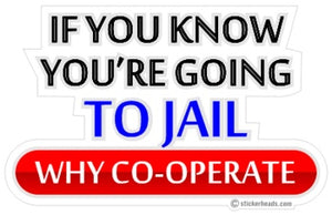 If You Know You're Going To JAIL   - Funny Sticker
