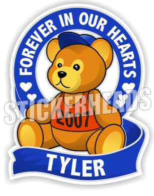 Teddy Bear ( Boy Blue )   -  In Memory Of Sticker
