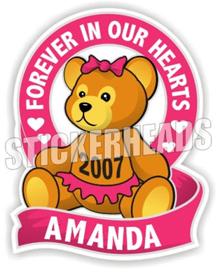 Teddy Bear ( Girl Pink )   -  In Memory Of Sticker