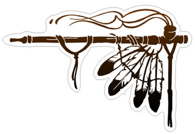 Peace Pipe-  Native Indian American Sticker