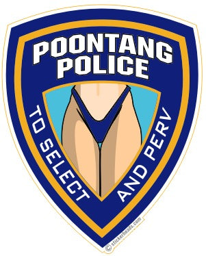 Poontang POLICE - Work Job Sticker