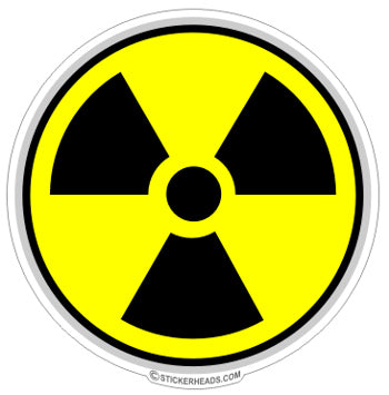 Radiation circle symbol - Funny Sticker