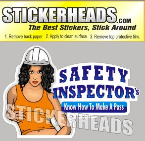 Know How To Make A PASS - Safety Inspectors Inspector  -  Sexy Chick Sticker