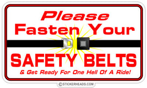 Please Fasten Your Seat belt - Seatbelt SAFETY BELTS - Funny Sticker