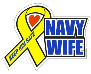 Navy Wife  - Military Sticker