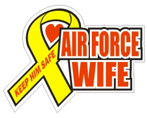 Air Force Wife  - Military Sticker