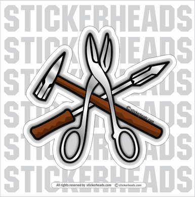TOOLS   - Sheet Metal Workers Sticker