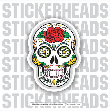 Sugar Skull- floral -Funny Sticker