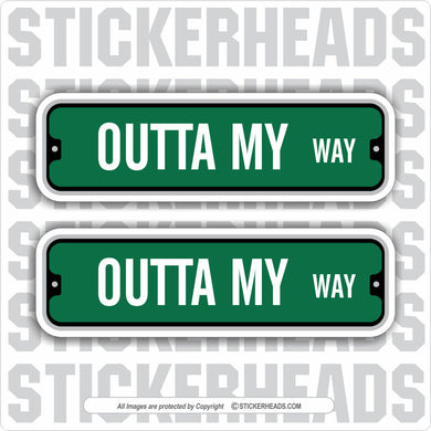 Green Street Signs -  Add Custom Text Message - Make Your Own Sticker