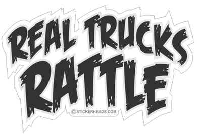 Real Trucks Rattle -Tractor Truck  Farm Diesel Sticker