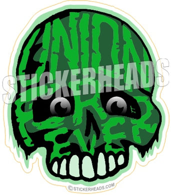 Union Forever Green Skull  -  Misc Union Sticker