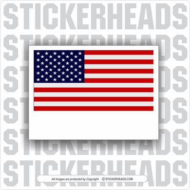USA FLAG - Custom Text Message - Make Your Own Sticker