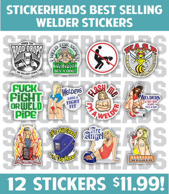 WELDER ( Best Selling ) Pack of 12 STICKERS   - welding weld sticker