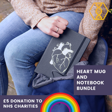 Load image into Gallery viewer, Heart Mug and Notebook Bundle - NHS charities
