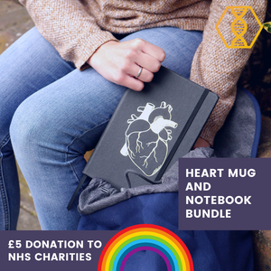 Heart Mug and Notebook Bundle - NHS charities