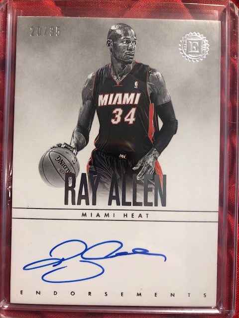 2019 Panini Encased Ray Allen Endorsements Auto /35