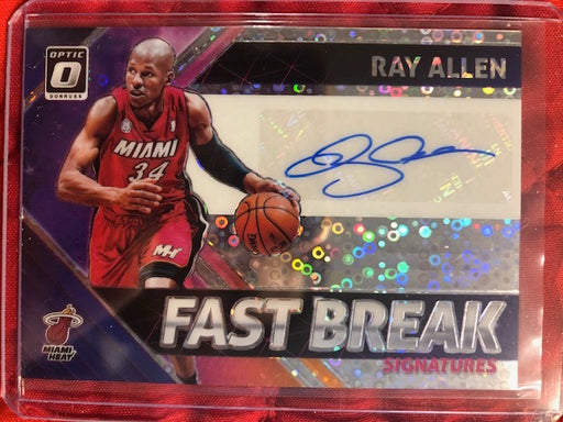 2018 Donruss Optic Ray Allen Fast Break Refractor Auto