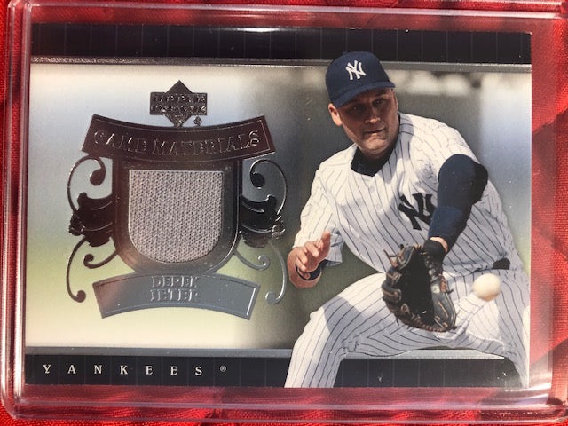 2007 Upper Deck Derek Jeter Game Materials Game Used Jersey Card Grey