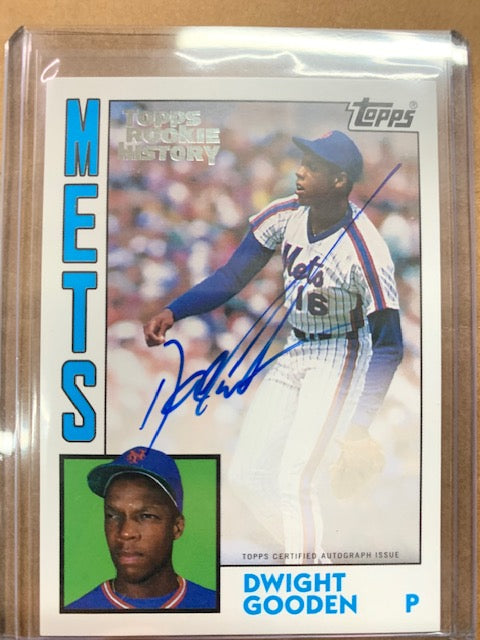 2018 Topps Archives Topps Rookie History Dwight Gooden Auto /150!