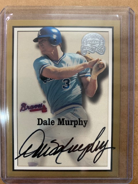 Rare 2000 Fleer Dale Murphy Auto Greats of the Game!