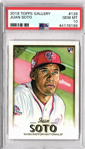 2018 Topps Gallery Juan Soto Rookie Card PSA 10 GEM MINT