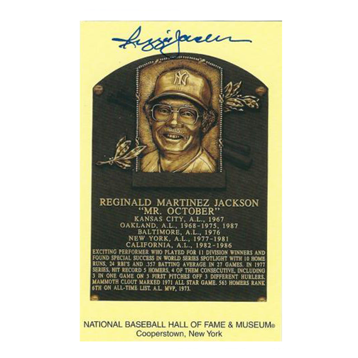12 Days of Christmas Deal - Reggie Jackson Autographed Hall of Fame Plaque Card JSA COA