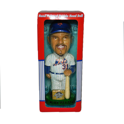 End of Year Warehouse Clearance Deal: Rare 2002 Mike Piazza All Star Game Limited Edition Ceramic Bobblehead in Box!