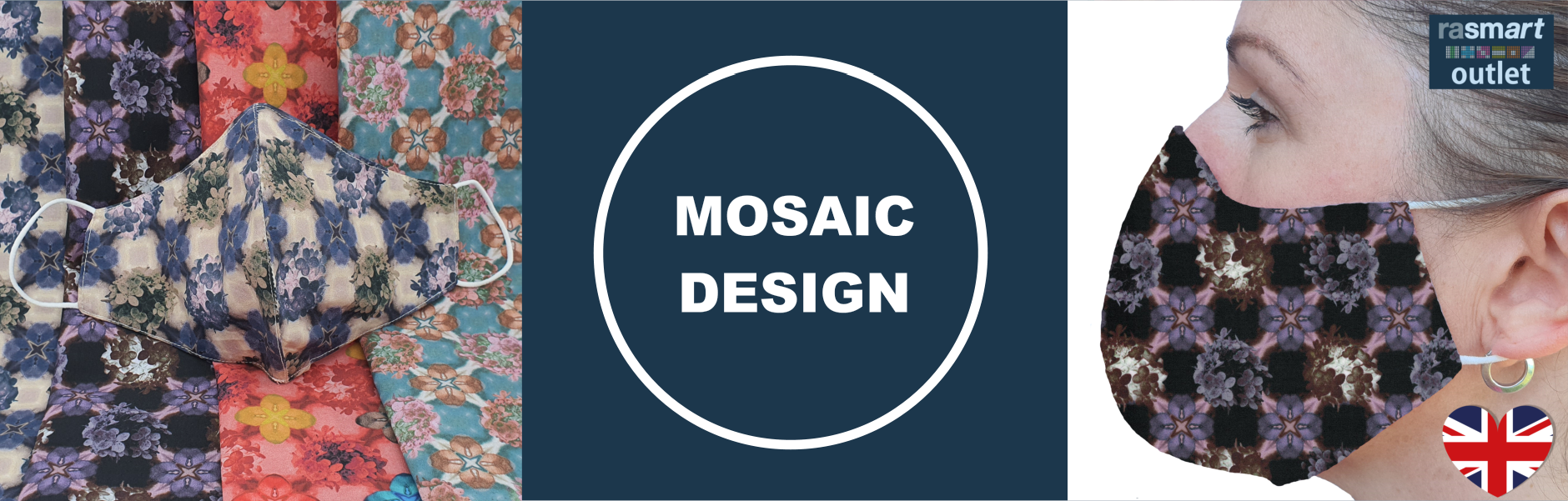 Mosaic Design Face Masks